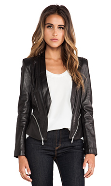 Rebecca Minkoff Zipped Hydra Jacket in Black
