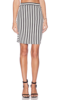 Rebecca Minkoff Kiki Skirt in Black & Cream