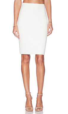 Rebecca Minkoff Amelia Skirt in White