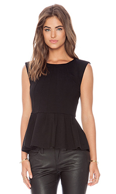 Rebecca Minkoff Chaz Top in Black