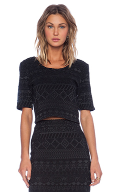 Rebecca Minkoff James Top in Black