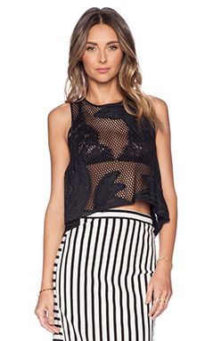 Rebecca Minkoff Santorini Top in Black