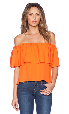 Rebecca Minkoff Dev Top in Persimmon