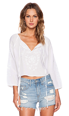 Rebecca Minkoff Carly Simon Top in Marshmallow