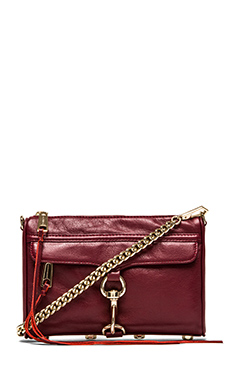 Rebecca Minkoff Mini MAC in Burgundy