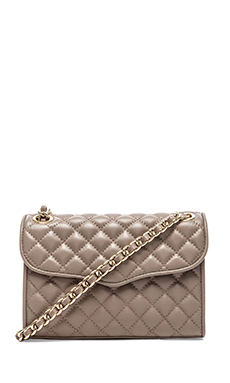 Rebecca Minkoff Quilted Mini Affair in Taupe