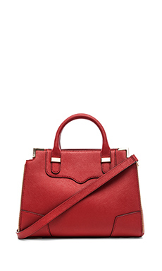 Rebecca Minkoff Small Amourous Satchel in Crimson
