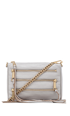 Rebecca Minkoff Mini 5 Zip in Putty