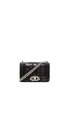 Rebecca Minkoff Mini Love Crossbody in Black