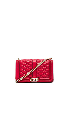 Rebecca Minkoff Love Crossbody in Crimson