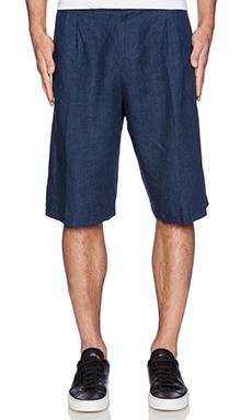 Rochambeau Pleated Shorts in Navy