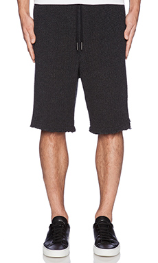 Rochambeau Seed Stitch Knit Short in Charcoal