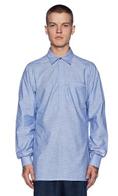 Rochambeau Raglan Pullover Shirt in Aqua Blue