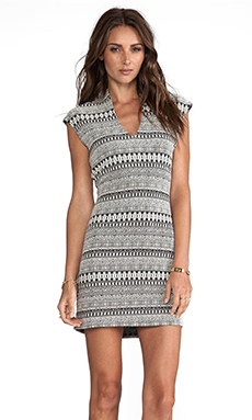 Rory Beca Spivey Fitted Dress in Ticca White