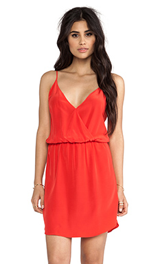 Rory Beca Eli Overlap Dress in Picante