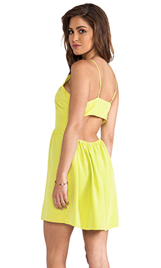 Rory Beca Bell Cut Out Cami Dress in Citron