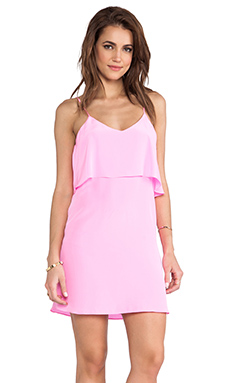 Rory Beca Fina Ruffle Dress in Flamingo