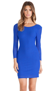 Rory Beca Brie Deep-V Back Dress in Royal