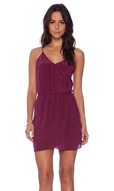 Rory Beca Shan V-Neck Wrap Dress in Aubergine