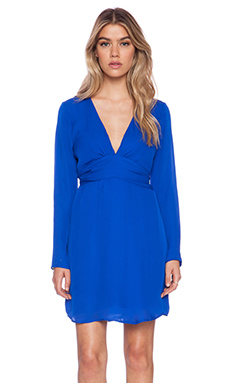 Rory Beca Tion Deep-V Dress in Royal