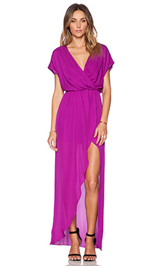 Rory Beca Plaza Wrap Gown in Orchid