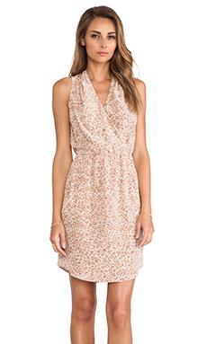 Rebecca Taylor Leopard Print Dress in Biscuit