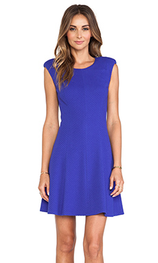 Rebecca Taylor Textured Ponte Dress in Royal