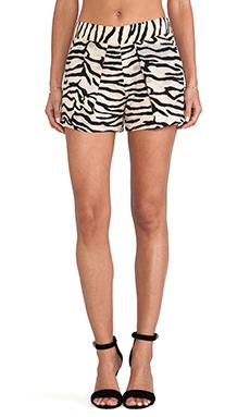 Rebecca Taylor Tiger Print Shorts in Natural