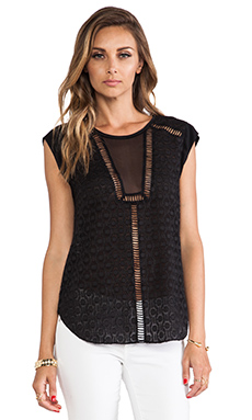 Rebecca Taylor Solid Geo Tank in Black