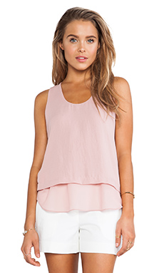 Rebecca Taylor Layered Tank Top in Lush