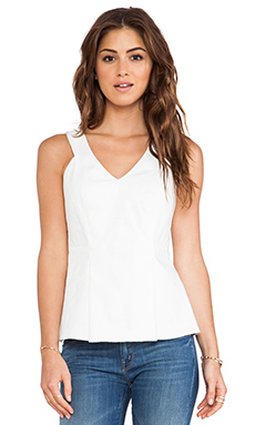 Rebecca Taylor Cut Out Tank in Chalk