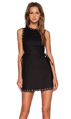 Red Valentino Stretch Cotton Dress in Black