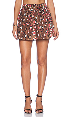 Red Valentino Printed Shorts in Cocoa