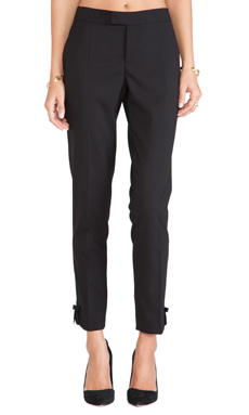 Red Valentino Tie Bottom Pants in Black