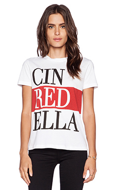 Red Valentino Cinredella Colorblock Tee in Blano