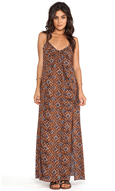 RVCA Drift On Dress in Coconut Shell Print