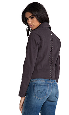 RVCA Agnes Lace Back Jacket in Black Haze