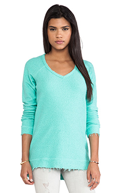 RVCA Lengths Pullover Sweatshirt in Cool Mint