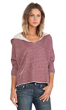 RVCA Easy Heart Sweatshirt in Truffle
