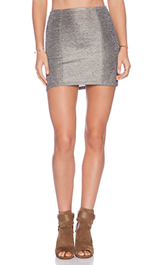 RVCA Temper Skirt in Silver