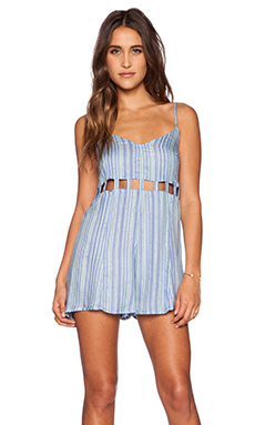 RVCA Easy Peasy Romper in Blue Crest