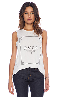 RVCA Playing Card Tank in Vintage White