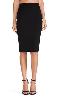 RVN Basic Midi Sheath Skirt in Black