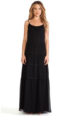 RACHEL ZOE Kyler Tiered Maxi Dress in Black