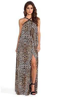 RACHEL ZOE Carrigan Maxi Dress in Cheetah Print