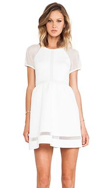 RACHEL ZOE Baxter Raglan Dress in Winter White