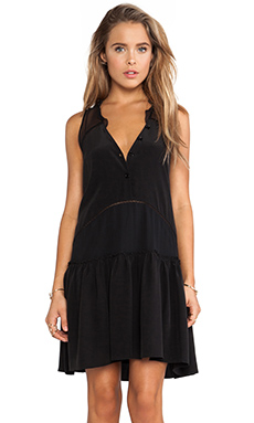 RACHEL ZOE Sierra Hi Low Dress in Black