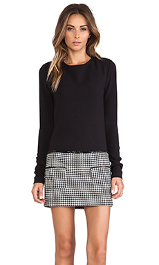 RACHEL ZOE Addie Houndstooth Dress in Black & Winter White