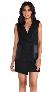 RACHEL ZOE Easton Tuxedo Dress in Black