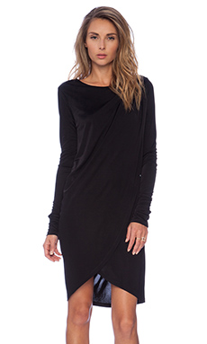 RACHEL ZOE Gio Asymmetrical Dress in Black